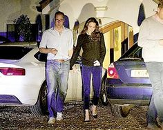 William and Kate leaving after dinner on Thursday night