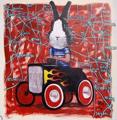 Love is in the air. Julio Fierro. Acylic on canvas, 86x86cm