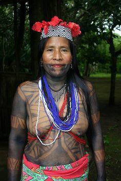 Embera Wounaan lady in Sambú
