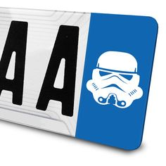 Sticker Stormtrooper Star Wars pour plaques d'immatriculation