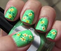 Another pretty floral nail art design