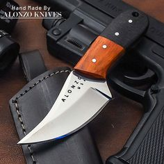 ALONZO KNIVES USA CUSTOM HANDMADE TACTICAL BUSHCRAFT 1095 KNIFE MICARTA 1954 #AlonzoKnives