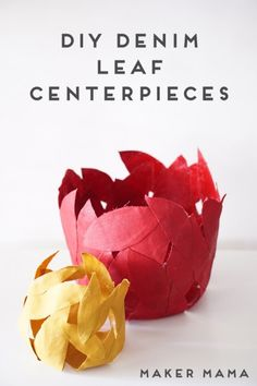 Dollar Store Crafts » Blog Archive » Make Denim Leaf Baskets