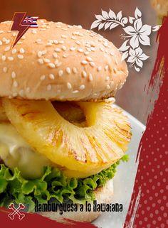 Si te encanta la combinación de sabores en tu boca, la hamburguesa rellena Hawaiana es para ti. La jugosa carne acompañada de frescos trocitos de piña causará una sensación única en tu paladar. ¡No lo pienses más! ¡Te esperamos para rockear al estilo Ají Seco!