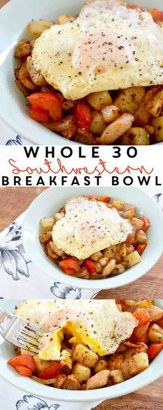 30 Friendly Southwestern Breakfast Bowl Healthy food doesn't have to be boring! Give this Whole 30 Friendly Southwestern Breakfast Bowl a try and start your day off with some kick.Mount Healthy Mount Healthy may refer to: Whole 30 Breakfast, Breakfast Bowls, Breakfast Time, Breakfast Recipes, Paleo Breakfast, Breakfast Salad, Cheap Healthy Breakfast, Breakfast Ideas, Whole 30 Dessert