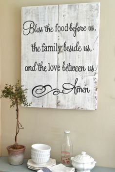 """Blessing"" wood 24x30 {customizable} - Aimee Weaver Designs"