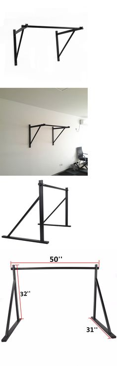 Other Strength Training 28067: 50 Wall Mount Chin Pull Up Bar Gym Workout Fitness Home Fitness Strength Train -> BUY IT NOW ONLY: $65 on eBay!