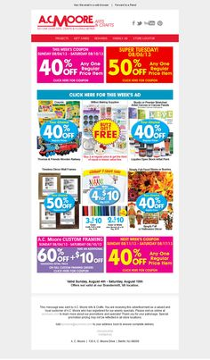 A.C. Moore - Subject line: Coupon Savings & This Week's Ad
