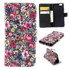 iphone 6 plus Case, iphone 6 (5.5') Case, Trees Camo Durable Premium PU Leather Flip Folio Book Style Wallet Protective Skin Pouch Phone Case  Magnetic Closure with Credit/ID Card Slot (A9) -- Click on the image for additional details.