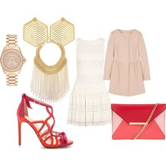 Senza titolo #2120 by noemydifiore on Polyvore featuring moda, Alice + Olivia, RED Valentino, MICHAEL Michael Kors, Ben-Amun, Michael Kors and Kasturjewels