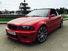 BMW E46 M3 red cabrio