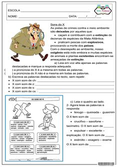 sons do x 1 Brazilian Portuguese, Grammar Activities, Interactive Notebooks, Speech Therapy, Learn English, Bullying, Life Lessons, Homeschool, Teaching