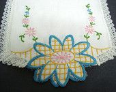 Vintage  Embroidered Doily Lace Trim