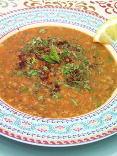 Red Lentil Soup with Mint & Sumac 2 tbsp olive oil 1 onion 1 carrot ...