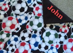 New to Sewdivine77 on Etsy: Soccerballs double layered blanket/throw (43.00 USD)