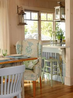 Dining Room & Lounge | Sarah Richardson Design.  I like the window style.