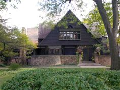 This is the Frank Lloyd Wright Home and studio. Wright started building this house in 1889 and remodeled it in 1895