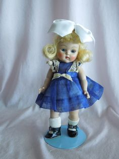 "1952 Strung Vogue Ginny Doll ""Kay"" Original Tagged Dress"