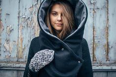 AUBE, handmade hood-hat-scarf from Riga