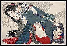 'Making love in the street' Meiji artist inspired by Yanagawa Shigenobu. Click the link and check out the price of this lovely print. Japanese Artwork, Japanese Prints, Spring Pictures, Japanese Geisha, Spring Art, Woodblock Print, British Museum, Erotic Art, Fantasy Art