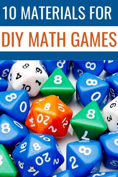 List of the best materials to have on hand for kids to create their own diy math games and math activities - great for at home learning or classroom use. Math Activities For Kids, Math For Kids, Math Resources, Indoor Activities, Elementary Math, Kindergarten Math, Teaching Math, Math Board Games, Math Games