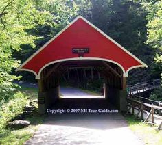 Flume Covered Bridge - Lincoln, NH. The gateway to the White Mountains. This is our Day 8 destination on our Northeast Sampler bicycle tour.