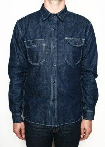 Rogue Territory Rinsed Neppy Denim Work Shirt