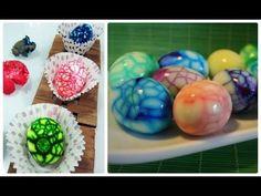 DIY: Ovos coloridos com efeito marmorizado