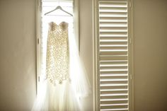 Jo's beautiful wedding gown. Made by Alexis George, Adelaide based bridal gowns. Made to measure Bridal Dresses and couture pieces