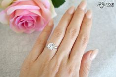 I'm sorry, this is *how much*?! (<$400) So simple and pretty :)  14k White Gold 2 Carat Round Solitaire by TigerGemstones on Etsy