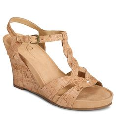 A2 by Aerosoles Stone Plush Women's Platform Wedge Sandals, Size: medium (10), Natural