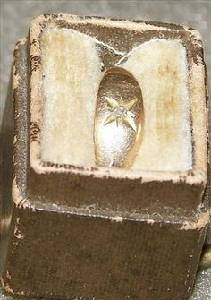 Victorian 10kt Baby Ring With Diamond Chip Size 1