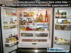 Voici l'astuce de génie pour faire sa liste de courses en moins de 20 secondes. Tout ce dont vous avez besoin, c'est de prendre une photo de votre frigo avec votre smartphone.  Découvrez l'astuce ici : http://www.comment-economiser.fr/liste-de-courses-toute-prete.html?utm_content=buffere0017&utm_medium=social&utm_source=pinterest.com&utm_campaign=buffer