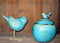 Ceramic bird cookie jar ($25)