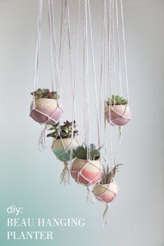 dyed hanging planter diy