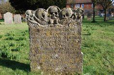 18th Century gravestone, Wye churchyard