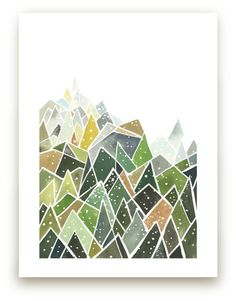 Landscape of Triangles and Dots