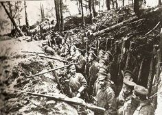 Russian forest trench at the Battle of Sarikamish, 1914–1915.