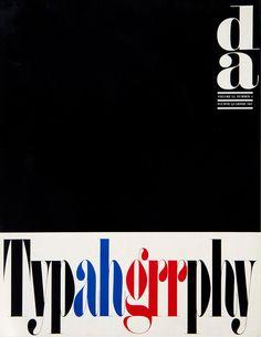 Portada para un trimestral de Artes Gráficas. Número dedicado a la buena y mala tipografía. 1965 / #cover of issue on #typography - good and bad #design