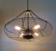"""I would love to put this light fixture in the hubby's """"cave""""!"""