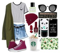 """Vibes ""Grunge"""" by kuyuu on Polyvore featuring Chicnova Fashion, Converse, Quay, Casetify, Brixton, Tony Moly, Rimmel, Chanel and Marc Jacobs"