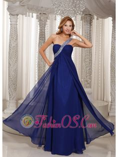 Buy new navy blue beaded one shoulder long evening wear dresses from stylish evening dresses collection, one shoulder neckline empire in blue color,cheap floor length dress with zipper back and for prom formal evening . Prom Dresses Under 200, Gold Prom Dresses, Affordable Prom Dresses, Elegant Prom Dresses, Chiffon Evening Dresses, Beautiful Prom Dresses, Prom Party Dresses, Pageant Dresses, Formal Evening Dresses