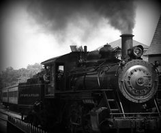 """""""Steam a head"""", New Hope, PA. - Photo by Michelle Fournier  What is about trains?...so romantic"""