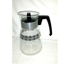 Vintage Glass Coffee Carafe,Glass Coffee Pot,Cory,Glass Carafe,Coffee,Tea Carafe,Mid Century,Retro Kitchenware,Heatproof Glass,8 Cups,1950s by JunkYardBlonde on Etsy