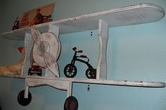 would love this for Elijah's vintagey   airlplane room