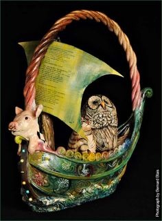 Owl and the Pussycat Teapot ~ Meryl Ruth