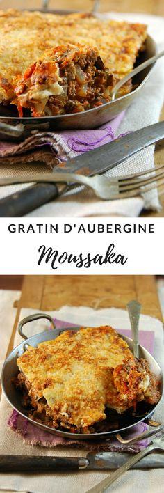 Moussaka Gratin d'aubergine au boeuf