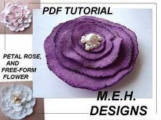 le modèle de la fleur tutoriel PDF, num. 3, fleurs de feutre pour broches, épingles à cheveux, etc., font vendre. aucune machine à coudre nécessaire sur Etsy, 3,72 €