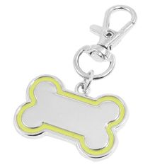 Name Tags for Dogs ID Tags for Dogs : Metal bone shape pendant.Attach to a collar with a swivel lobster claw clasp.Lobster clasp securely snaps onto the collar ring.The charm pendant can brighten any pet's look.You can DIY to put it on the pet collars or keyring.It is a good gift for your pets, and surely it will make them happier.