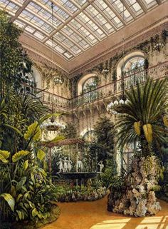 "K.Uhtomsky ""Interiors of the Winter Palace. The Winter Garden"" in 1863"